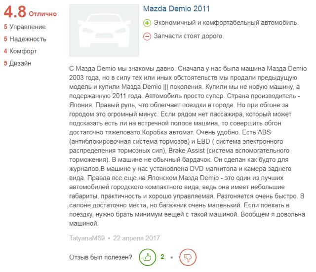 Мазда Демио: Обзор модели, поколения, плюсы и минусы